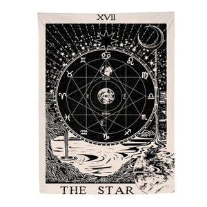 The Star Tarot card Tapestry-CatCow Co