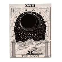 Load image into Gallery viewer, The Moon Tarot Card Tapestry-CatCow Co