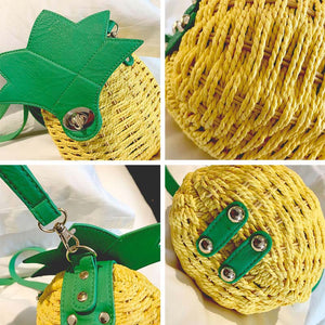 Pineapple Hobo Crossbody Handbag-CatCow Co