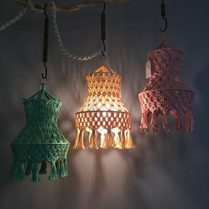 Solid color Camille Macrame light shades