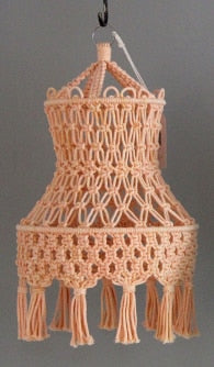 Solid color Camille Macrame light shades-Lamp-CatCow Co