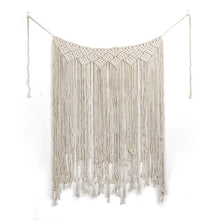 Load image into Gallery viewer, Large Macrame backdrop for boho decor