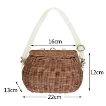 Load image into Gallery viewer, Kid rattan straw basket bag-CatCow Co