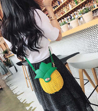 Load image into Gallery viewer, Pineapple Hobo Crossbody Handbag-CatCow Co