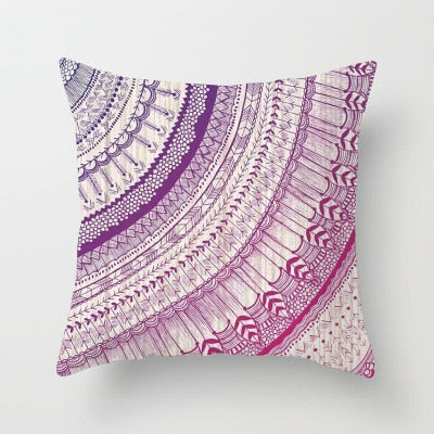 Mandala Inspired Pillow Case (various colors available)-CatCow Co