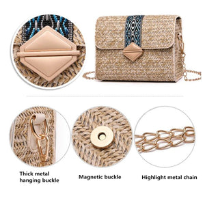 Bolsos Rattan Cross body Bags-CatCow Co