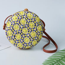 Load image into Gallery viewer, Circle Vogue Rattan bag (several variants available)-CatCow Co