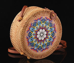 Embroidered Bohemian Woven Handbag (several designs available)-CatCow Co