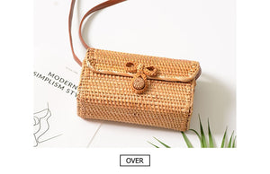 Brown Envelope Handwoven Rattan Bag Bali-CatCow Co