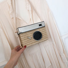 Load image into Gallery viewer, Zoe Rattan Camera Crossover handbag