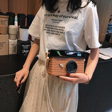 Load image into Gallery viewer, Zoe Rattan Camera Crossover handbag-CatCow Co