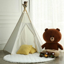 Load image into Gallery viewer, Milk White Kids handmade teepee-CatCow Co