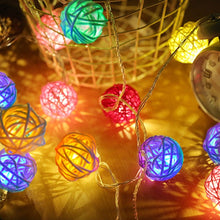 Load image into Gallery viewer, String Lights Rattan Ball Garlands indoor outdoor-CatCow Co