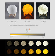 Load image into Gallery viewer, LunaLuz - Enchanting Moon Light Lamp ( 6 different sizes)-Home & Garden-CatCow Co