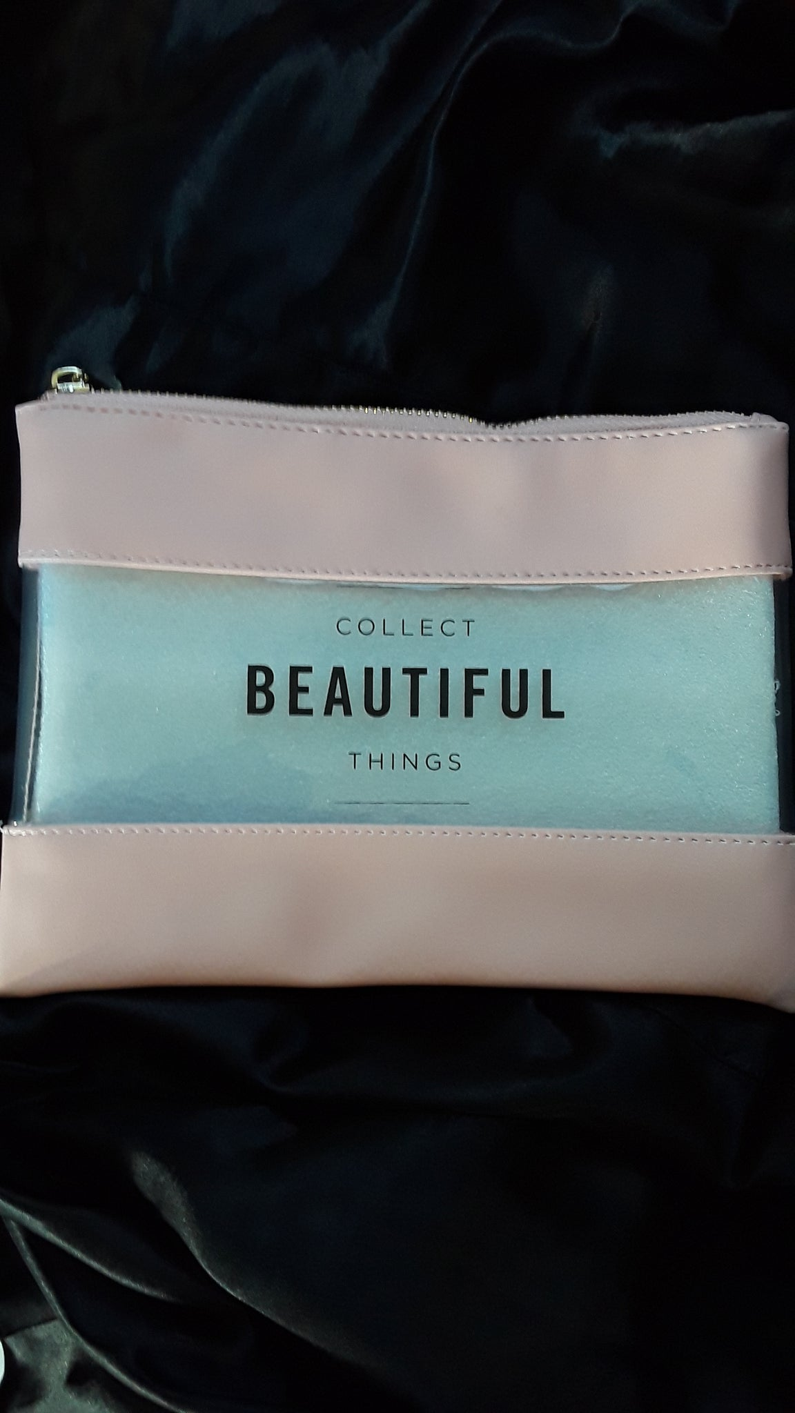"""Pink Collect Beautiful Things"" Make Up Bag"