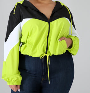 Neon Green Windbreaker