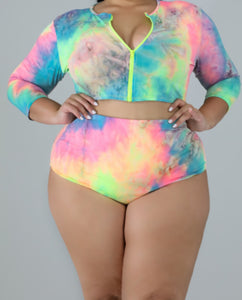 Light Bright Neon 2 piece Swimwear