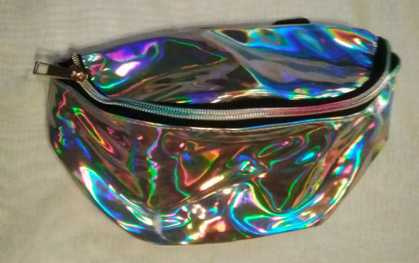Holographic Two-Zipper Fanny Pack