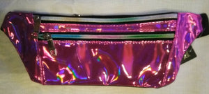 Holographic Three-Zipper Fanny Pack