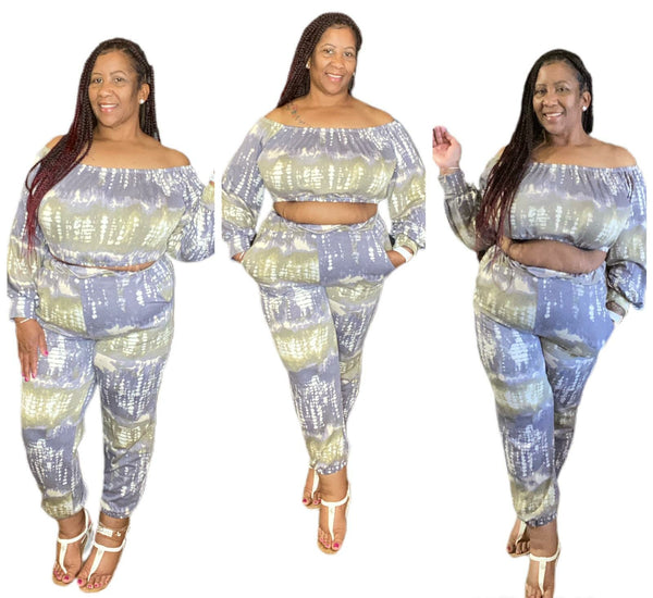 2 Piece Crop Jogger Set