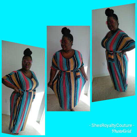 Strip Maxi Dress