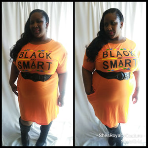 Black and Smart T-shirt Dress