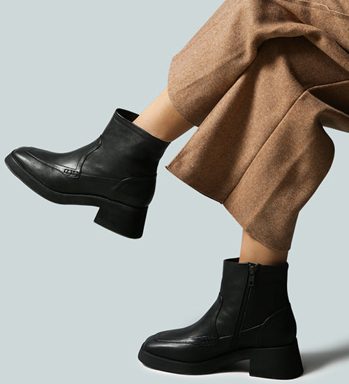 OXMAN Classic Black Ankle Boot