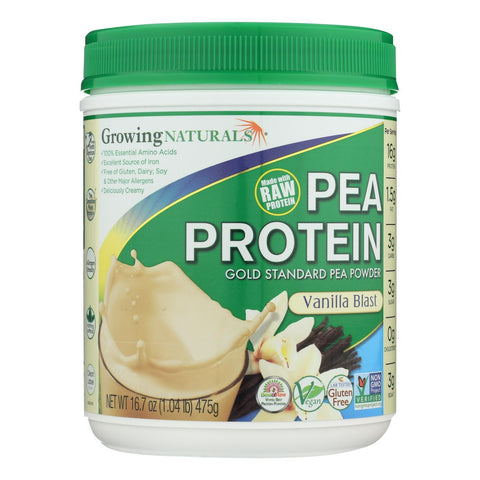 Image of Growing Naturals Yellow Pea Protein - Vanilla Blast - 16 oz