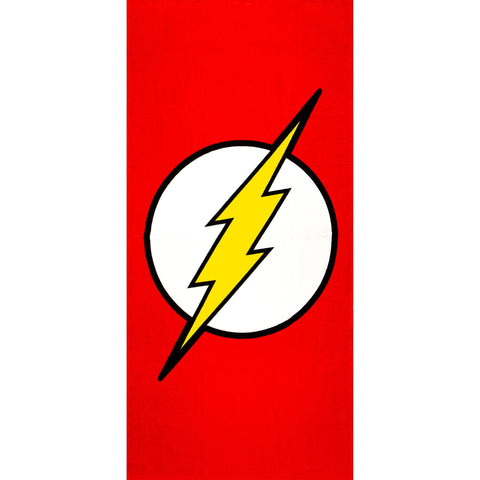 "Image of Beach Towel - The Flash - Oversized 58"" x 28\"" - For Pool, Bath, Yoga, Gym, Travel, Camping, Beach Cart & Beach Chairs"