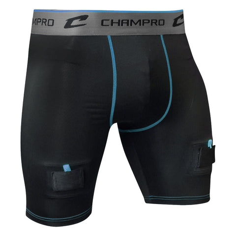 Champro Adult CREASE Poly Spandex Hockey Jock Black XLarge