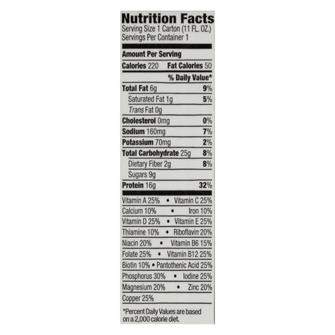 Orgain Organic Nutritional Shakes - Sweet Vanilla Bean - Case of 12 - 11 Fl oz.
