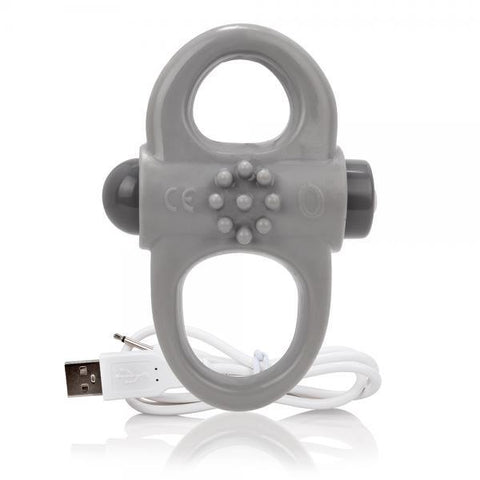 Screaming O Charged Yoga Vibrating Ring Gray