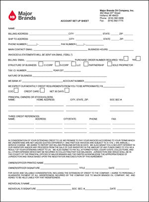 image of the credit application form