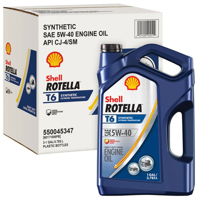 SHELL ROTELLA T6 SYNTHETIC 5W40-3/1G