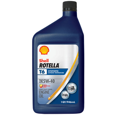 SHELL ROTELLA T6 SYNTHETIC 5W40 -6/1Q