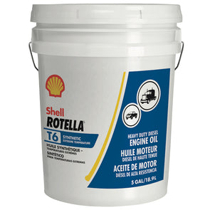 SHELL ROTELLA T6 SYNTHETIC 5W40-5G