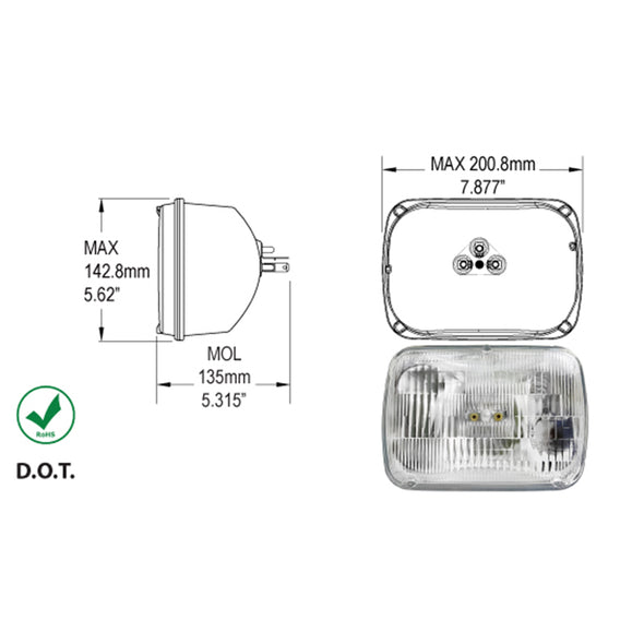 HALOGEN SEALED BEAM-EACH