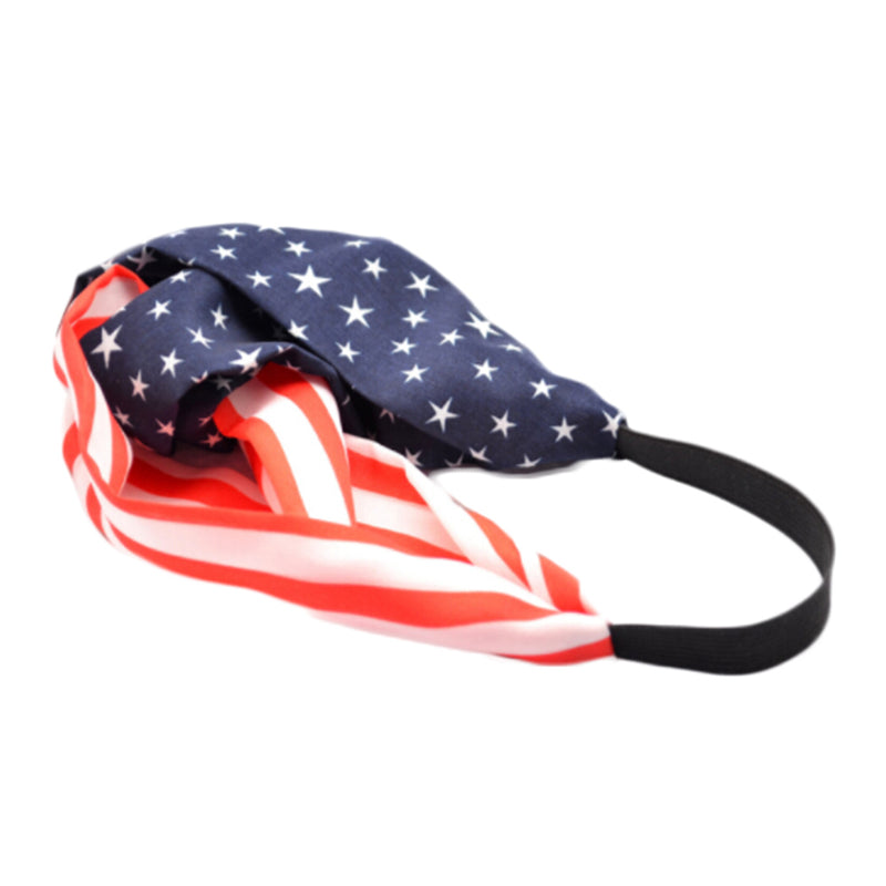 American Flag 4th Of July Headband - Delfini Swimwear