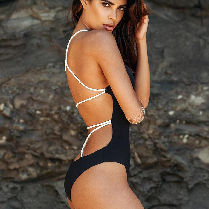 Backless halter top bikini - Delfini Swimwear