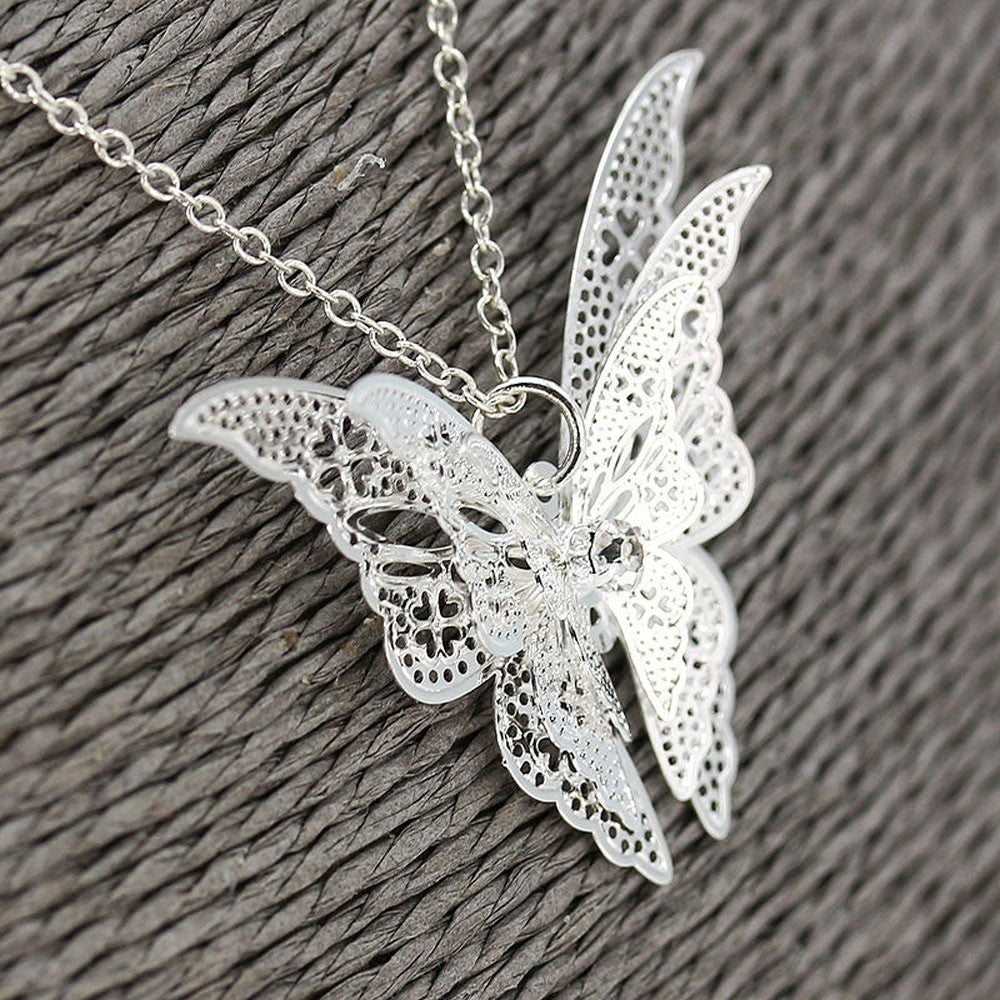 Apatura Iris Butterfly Necklace - Delfini Swimwear