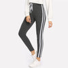 Grey Three Striped Sweatpants - Delfini Swimwear