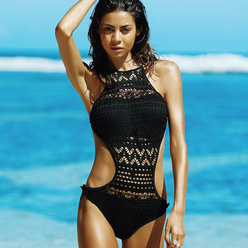 Crochet One Piece Swimsuit - Delfini Swimwear