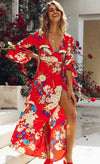 Vintage V neck floral sundress - Delfini Swimwear