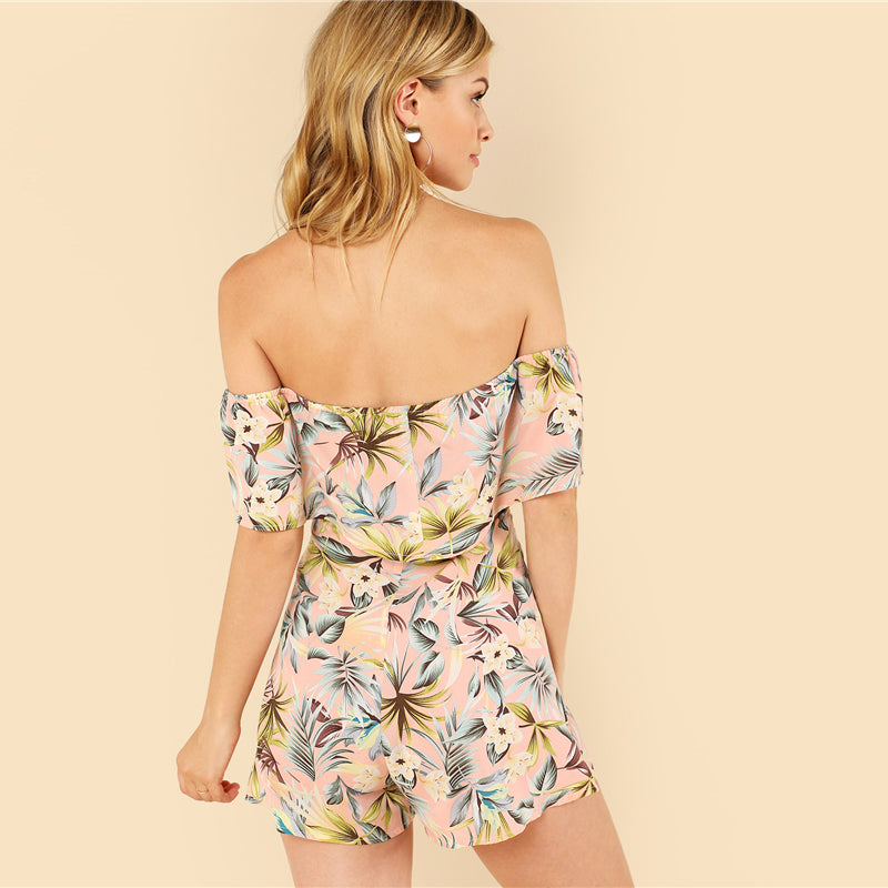 Backless Beach Fold Over Play Suit - Delfini Swimwear