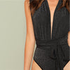 Stretchy Halter Body Suit - Delfini Swimwear