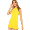 Solid Yellow Ruffle Play Suit - Delfini Swimwear
