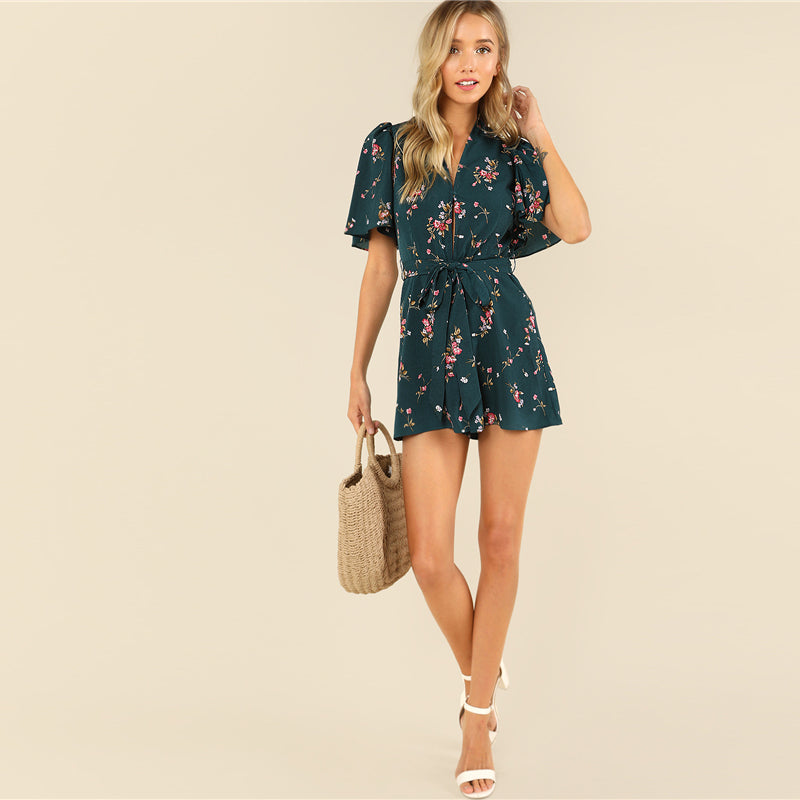 Blossom Play Suit - Delfini Swimwear