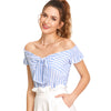 Off Shoulder Striped Top - Delfini Swimwear