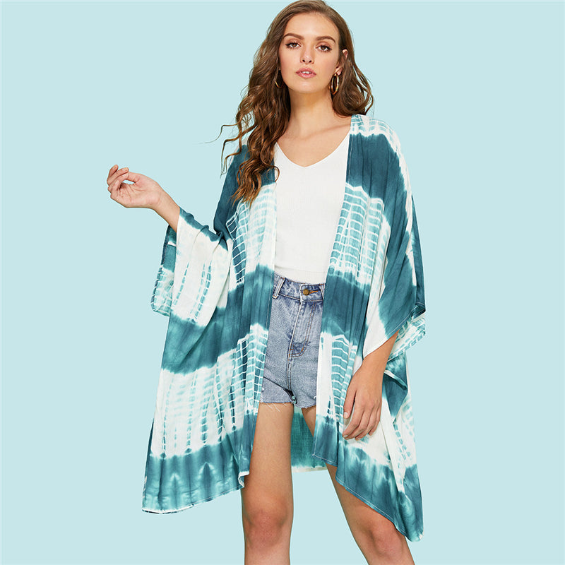 Tie Dye Beach Cover Up - Delfini Swimwear