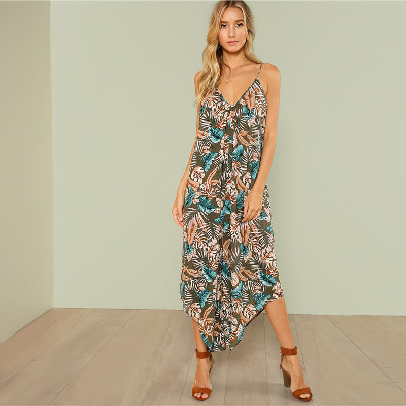 Tropical Summer Jumpsuit - Delfini Swimwear